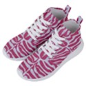 SKIN2 WHITE MARBLE & PINK DENIM Women s Lightweight High Top Sneakers View2