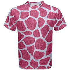 Skin1 White Marble & Pink Denim (r) Men s Cotton Tee