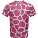 SKIN1 WHITE MARBLE & PINK DENIM (R) Men s Cotton Tee View1