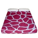 SKIN1 WHITE MARBLE & PINK DENIM (R) Fitted Sheet (California King Size) View1