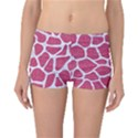 SKIN1 WHITE MARBLE & PINK DENIM (R) Reversible Boyleg Bikini Bottoms View1