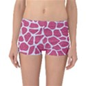SKIN1 WHITE MARBLE & PINK DENIM (R) Reversible Boyleg Bikini Bottoms View3