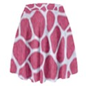 SKIN1 WHITE MARBLE & PINK DENIM (R) High Waist Skirt View2