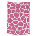 SKIN1 WHITE MARBLE & PINK DENIM (R) Large Tapestry View1