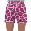 SKIN1 WHITE MARBLE & PINK DENIM (R) Sleepwear Shorts View1