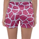 SKIN1 WHITE MARBLE & PINK DENIM (R) Sleepwear Shorts View2