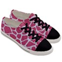 SKIN1 WHITE MARBLE & PINK DENIM (R) Men s Low Top Canvas Sneakers View3