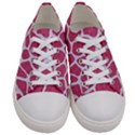 SKIN1 WHITE MARBLE & PINK DENIM (R) Women s Low Top Canvas Sneakers View1