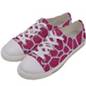 SKIN1 WHITE MARBLE & PINK DENIM (R) Women s Low Top Canvas Sneakers View2