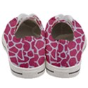 SKIN1 WHITE MARBLE & PINK DENIM (R) Women s Low Top Canvas Sneakers View4