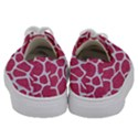 SKIN1 WHITE MARBLE & PINK DENIM (R) Kids  Low Top Canvas Sneakers View4