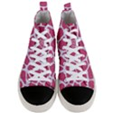 SKIN1 WHITE MARBLE & PINK DENIM (R) Men s Mid-Top Canvas Sneakers View1