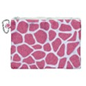 SKIN1 WHITE MARBLE & PINK DENIM (R) Canvas Cosmetic Bag (XL) View1