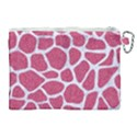 SKIN1 WHITE MARBLE & PINK DENIM (R) Canvas Cosmetic Bag (XL) View2