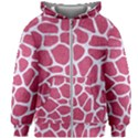SKIN1 WHITE MARBLE & PINK DENIM (R) Kids Zipper Hoodie Without Drawstring View1