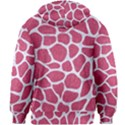 SKIN1 WHITE MARBLE & PINK DENIM (R) Kids Zipper Hoodie Without Drawstring View2