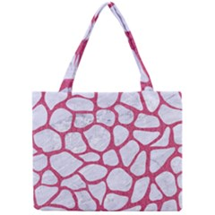 Skin1 White Marble & Pink Denim Mini Tote Bag by trendistuff