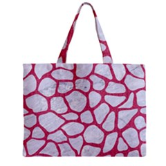 Skin1 White Marble & Pink Denim Zipper Mini Tote Bag by trendistuff