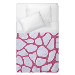 Skin1 White Marble & Pink Denim Duvet Cover (single Size) by trendistuff