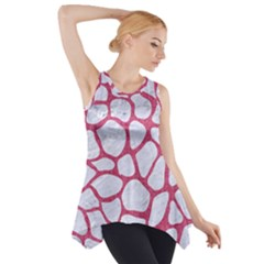 Skin1 White Marble & Pink Denim Side Drop Tank Tunic by trendistuff