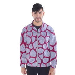 Skin1 White Marble & Pink Denim Windbreaker (men)