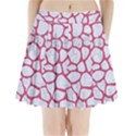 SKIN1 WHITE MARBLE & PINK DENIM Pleated Mini Skirt View1