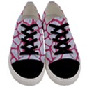 SKIN1 WHITE MARBLE & PINK DENIM Men s Low Top Canvas Sneakers View1