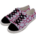 SKIN1 WHITE MARBLE & PINK DENIM Men s Low Top Canvas Sneakers View2