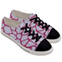 SKIN1 WHITE MARBLE & PINK DENIM Men s Low Top Canvas Sneakers View3