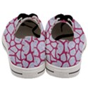 SKIN1 WHITE MARBLE & PINK DENIM Men s Low Top Canvas Sneakers View4