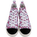 SKIN1 WHITE MARBLE & PINK DENIM Men s Mid-Top Canvas Sneakers View1