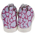 SKIN1 WHITE MARBLE & PINK DENIM Men s Mid-Top Canvas Sneakers View4