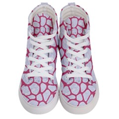 Skin1 White Marble & Pink Denim Men s Hi Top Skate Sneakers