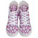 SKIN1 WHITE MARBLE & PINK DENIM Men s Hi-Top Skate Sneakers View1