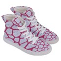 SKIN1 WHITE MARBLE & PINK DENIM Men s Hi-Top Skate Sneakers View3
