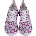 SKIN1 WHITE MARBLE & PINK DENIM Men s Lightweight Sports Shoes View1