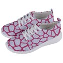 SKIN1 WHITE MARBLE & PINK DENIM Men s Lightweight Sports Shoes View2