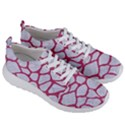 SKIN1 WHITE MARBLE & PINK DENIM Men s Lightweight Sports Shoes View3