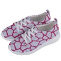 SKIN1 WHITE MARBLE & PINK DENIM Women s Lightweight Sports Shoes View2