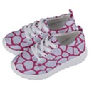 SKIN1 WHITE MARBLE & PINK DENIM Kids  Lightweight Sports Shoes View2
