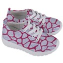 SKIN1 WHITE MARBLE & PINK DENIM Kids  Lightweight Sports Shoes View3