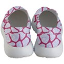 SKIN1 WHITE MARBLE & PINK DENIM Women s Lightweight Slip Ons View4