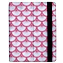 SCALES3 WHITE MARBLE & PINK DENIM (R) Apple iPad 2 Flip Case View2