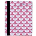 SCALES3 WHITE MARBLE & PINK DENIM (R) Apple iPad 2 Flip Case View3