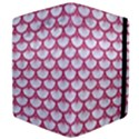 SCALES3 WHITE MARBLE & PINK DENIM (R) Apple iPad 2 Flip Case View4