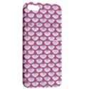 SCALES3 WHITE MARBLE & PINK DENIM (R) Apple iPhone 5 Hardshell Case with Stand View2