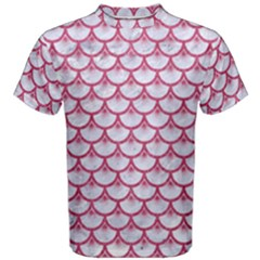 SCALES3 WHITE MARBLE & PINK DENIM (R) Men s Cotton Tee