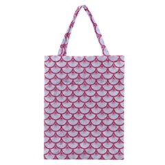 SCALES3 WHITE MARBLE & PINK DENIM (R) Classic Tote Bag