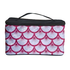 SCALES3 WHITE MARBLE & PINK DENIM (R) Cosmetic Storage Case