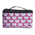 SCALES3 WHITE MARBLE & PINK DENIM (R) Cosmetic Storage Case View1